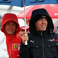 Sebastian Vettel & Kimi Raikkonen... My two favorite boys in F1