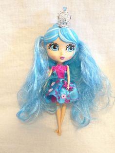 Cutie Pops Doll Crown Cuties Crystalina  Jada Toys Girl Gift Big Eyes Blue Hair #CutiePops #Dolls
