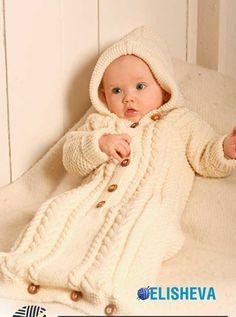 """Конверт для новорожденного """"Шик с пелёнок"""" от Drops Design, вязаный спицами"""