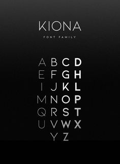 Kiona Font Family is simple but significant, and defined by its crisp edges and modern touches. It is designed for optimal legibility. An all caps sans-serif, KIONA makes a statement without making a scene. Graphic Design Fonts, Font Design, Type Design, Modern Sans Serif Fonts, Modern Typography, Free Modern Fonts, Free Fonts Sans Serif, Edgy Fonts, Typographie Fonts