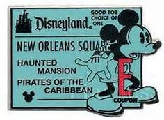 disney tickets collector's pin