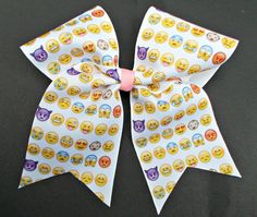 Hey, I found this really awesome Etsy listing at https://www.etsy.com/listing/213698684/emoji-faces-cheer-bow-or-softball-bow
