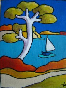 Today I'm sharing easy acrylic painting ideas for beginners to try. Simple acrylic paintings, improve your acrylic art. Landscape Quilts, Landscape Art, Fabric Painting, Watercolor Paintings, Pop Art, Art Fantaisiste, Art Populaire, Bright Art, Art Moderne