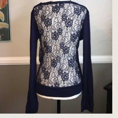 Electric Yoga lace cardigan ⚡Lightweight cardigan is the perfect after workout accessory and pretty enough to wear with jeans or a skirt too! Electric Yoga offers unique yarns and fabrics to create both great fit and style to the new generation. Electric Yoga lace cardigan is Super cute and comfy and super functional. Navy blue. 96% polyester, 4% spandex. Don't be basic, be electric!⚡️ Electric Yoga Tops