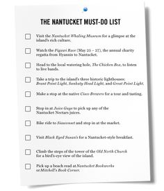 Things to do on Nantucket - it's been a few years, could be fun to complete this bucket list :)