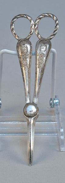 Heavy Sterling Silver Scissors w/ monogram - VCA #480 http://www.vcaauction.com/catalog.php