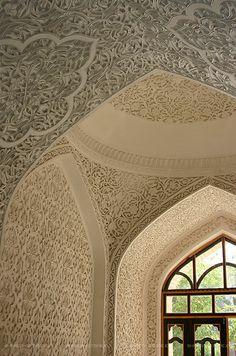 Arabesque entrance....custom gebs plaster carving