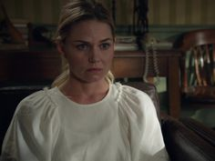 Emma Swan's 'Ravine' Bell Sleeve Silk & Linen Top on Once Upon A Time