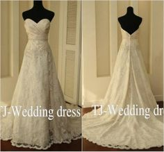 Aline Sweetheart Neckline Lace Wedding by hongxinweddingdress, $177.00
