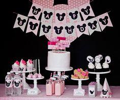 Minnie Mouse cumpleaños fiesta paquete por paigesofstyle en Etsy