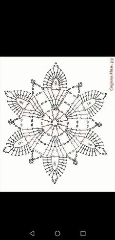 Thread Crochet, Crochet Doilies, Crochet Lace, Crochet Squares, Learn To Crochet, Snowflakes, Diy And Crafts, Tapestry, Christmas Ornaments