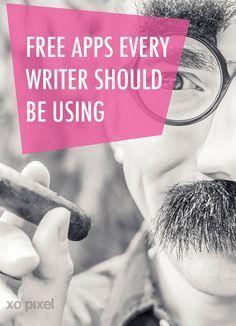 free-apps every writer should be using via xopixel.com