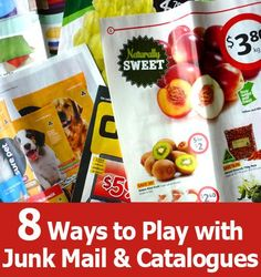 8 Ways to Play with Junk Mail and Catalogues