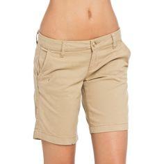 Aeropostale Julie Shorts (775 RUB) ❤ liked on Polyvore featuring shorts, beige, pocket shorts, faux-leather shorts, beige shorts, aéropostale and aeropostale shorts