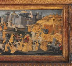 Marco del Buono Giamberti, Detail, Cassone with the Conquest of Trebizond, c. 1460s