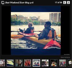 May 4-6: Sara went kayaking in the Charles river!