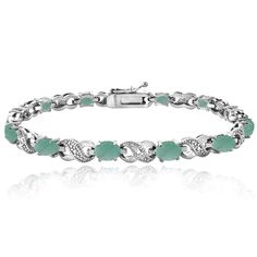 Genuine Emerald, Ruby or Ebony Sapphire Gemstone & Diamond Accented Infinity Bra #BriaLou