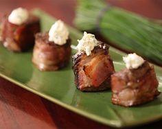 Mini fillet mignon wrapped in bacon with horseradish crème recipe