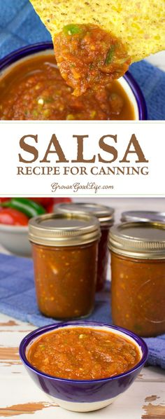 This tomato salsa recipe for canning is packed with tomato, peppers, onions, and just enough spicy tingle to tickle your taste buds. Open a jar any time and enjoy with tortilla chips or with your favorite Mexican inspired meals.