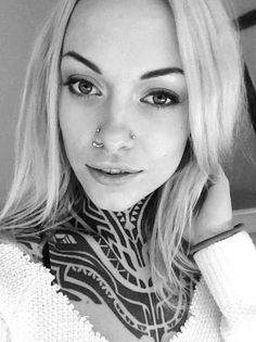 The beautiful Teya Salat has a very impressive neck tattoo. #InkedMagazine #neck #chest #throat #tattoo #tattoos #Inked #InkedGirl #tattooedgirl #girlswithtattoos