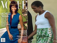 Your 'inspiring' first lady... ISN'T IT AMAZING WHAT PHOTOSHOP CAN DO!