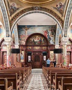 St goerge  church -cotsika - cairo Church Interior, Religious Art, Cairo, Middle East, Egyptian, Jesus Christ, Catholic, Taj Mahal, Temples