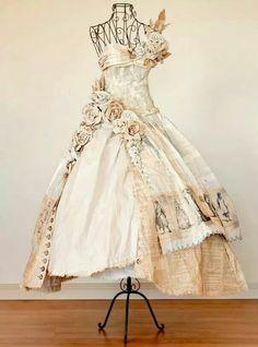 Stephanie Rubanio paper dress