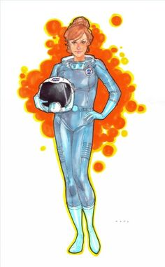 Space Girl by Phil Noto Comic Art