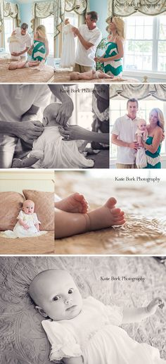 Christening Photography | Getting Baby Dressed in the Chloe Christening Gown by Baby Beau & Belle