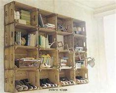 Antique Apple Crate Shelves
