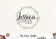 Watercolor Wreath Logo Creative Branding #photogrpahy branding website blog logo design