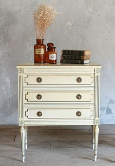 Vintage Louis XVI Style Painted Commode