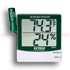 """http://termometer.dk/luftfugtmaler-r13208/hygro-termometer-53-445715-r13217  Hygro-termometer  Sensoren kan monteres på termometeret eller forlænges efter 46cm (18 """")-kabel  Max / Min med reset  Kalibrering justeringsskruen på bagsiden  Fugtighed: 10 til 99% RH  Temperatur: -10 til 60 ° C (14 til 140 ° F)  Nøjagtighed :: ± 4% relativ luftfugtighed, ± 1 ° C / 1,8 ° F Garanti: 2 År"""