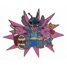 DISNEY PINS STITCH on Drums LE 500