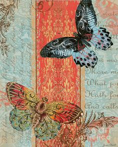 Royal Tapestry Butterfly-C2 Digital Art / Jean Plout