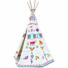 Find Vilac Indian tipi by Nathalie Lété from Vilac at the best price on Jeujouet ! Large choice of Vilac products on our specialty store. Childrens Teepee, Teepee Kids, Teepee Tent, Play Tents, Baby Teepee, Childrens Rooms, Indian Teepee, Canvas Teepee, Casa Kids