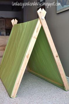 Lindsay & Drew: A-Frame Pup Tents