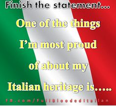 #Italian Heritage Month!