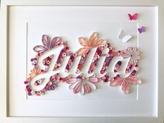 Made In paper Quilling Letters, Paper Quilling Jewelry, Paper Quilling Patterns, Quilled Paper Art, Quilling Paper Craft, Paper Crafts, 3d Paper, Diy Crafts For Gifts, Diy Arts And Crafts