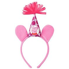 """Amscan Girls Peppa Pig Birthday Party Deluxe Headband (1 Piece), Pink, 8 1/2"""" x 6 1/2"""" - http://www.partysuppliesanddecorations.com/amscan-girls-peppa-pig-birthday-party-deluxe-headband-1-piece-pink-8-12-x-6-12.html"""