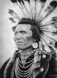 Salish chief wore a headdress of highly prized golden eagle feathers, which signify that he was outstanding in battle. A complete tail of twelve eagle feathers could be traded for a pony - Native American Native American Beauty, Native American Photos, Native American Tribes, American Indian Art, Native American History, American Indians, American Symbols, American Women, Native American Drawing