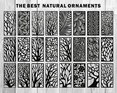 24 natural ornaments for decorative partitions panel screen image 2