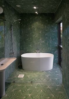 http://modesthomeplan.com/wp-content/uploads/green-bathroom-design-mosaic-tile-shaped-house.jpg