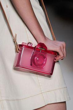 dcfdf1ef0c7c See-thru Pink-Plastic Camera Bag. Handbags and Purses