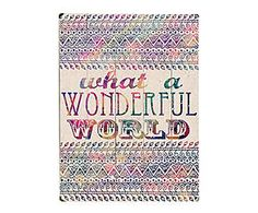 Cuadro en madera de abedul Wonderful World - 30,5x40,6 cm