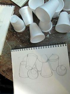 Sketch styrofoam cups