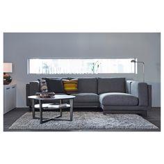 IKEA NOCKEBY two-seat sofa w chaise longue left