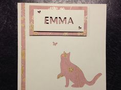 Cat birthday card papercutting