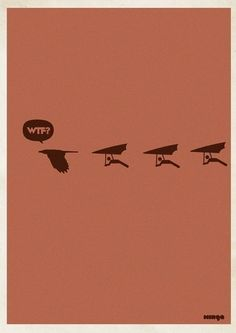"""Argentina-based Minga Creative - Studio came out with a funny and creative posters idea. They called the project """"WTF?"""" and after gaining success had to even make an addition of WTF Creative Artwork, Creative Studio, Creative Design, Creative Illustration, Graphic Design Illustration, Graphic Art, Wtf Moments, Thing 1, Beautiful Posters"""