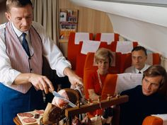 """A look back at the days when crews were uniformly charming and gorgeous, the meals opulent, and """"inflight-entertainment"""" meant heading to the lounge for a smoke and a cocktail."""